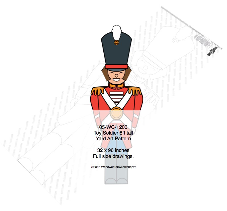 Toy Soldier 8ft Woodworking Pattern