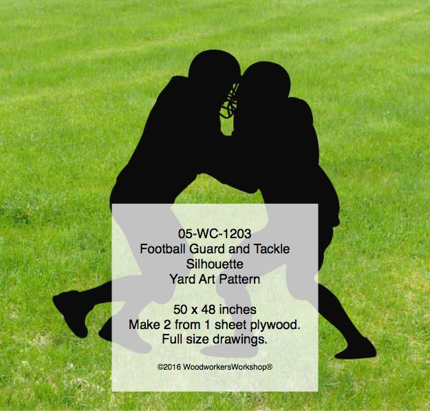 05-WC-1203 - Football Guard and Tackle Silhouette Yard Art Woodworking Plan
