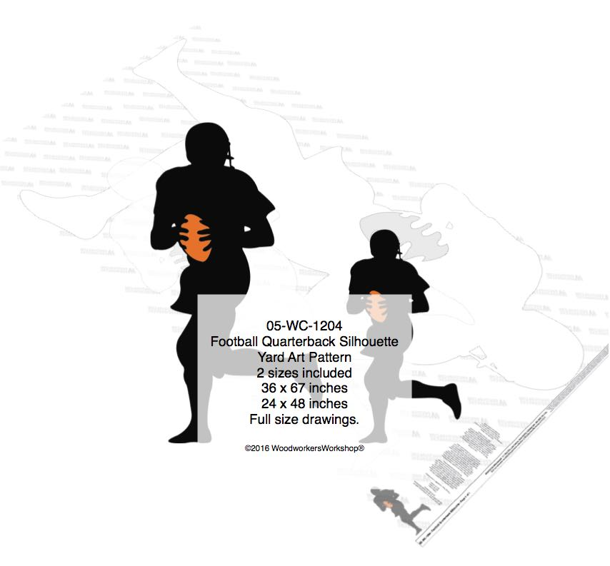 Football Quarterback Silhouette Woodworking Pattern