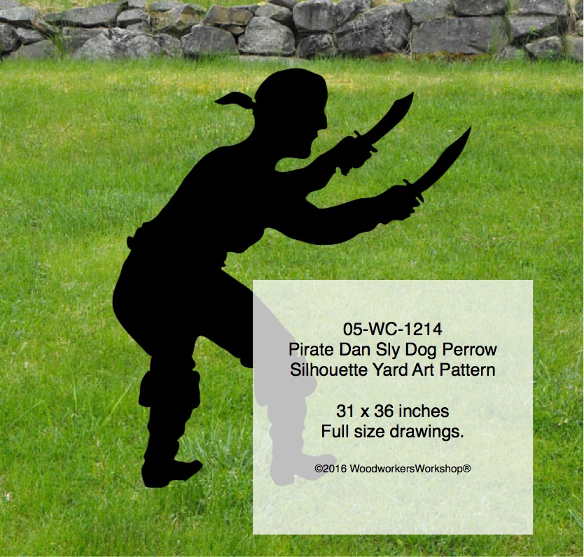 Pirate Dan Sly Dog Perrow Silhouette Woodworking Pattern
