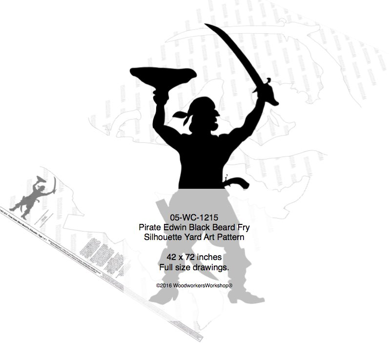 Pirate Edwin Black Beard Fry Silhouette Woodworking Pattern