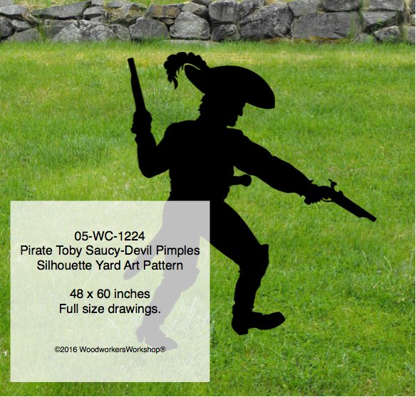 05-WC-1224 - Pirate Toby Saucy-Devil Pimples Shadow Yard Art Woodworking Pattern