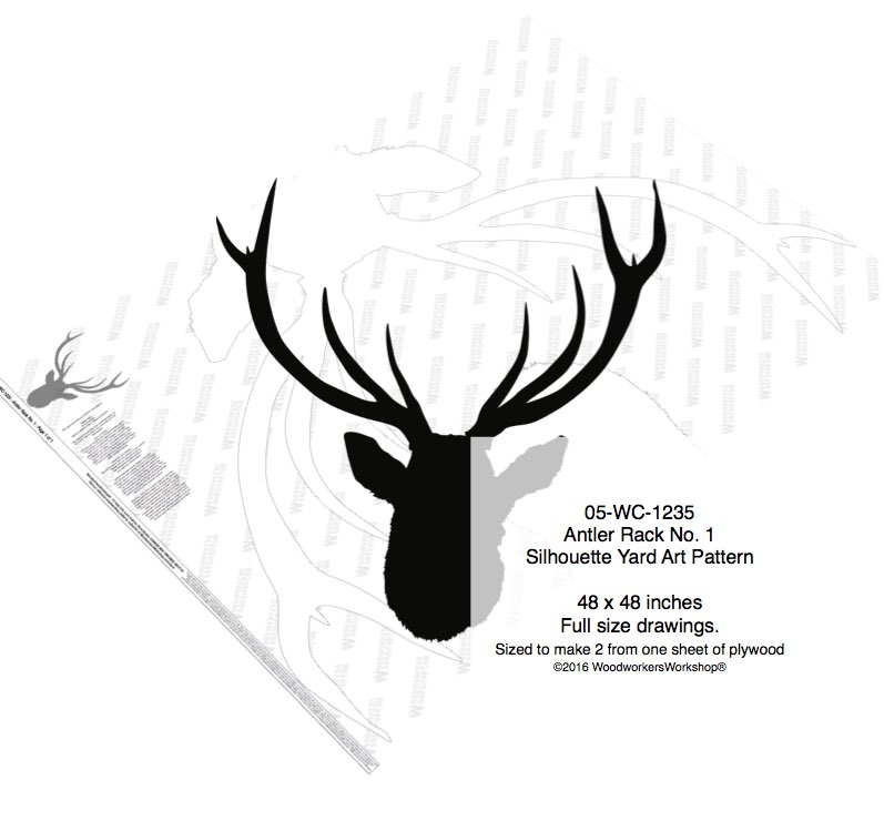 Antler Rack No.1 Silhouette Woodworking Pattern woodworking plan