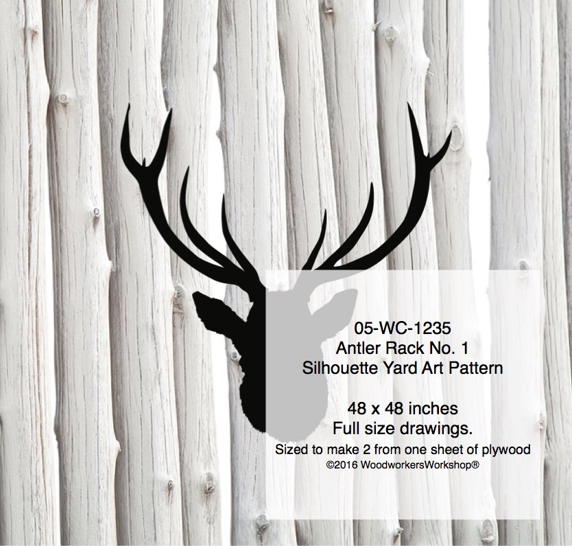 Antler Rack No.1 Silhouette Woodworking Pattern