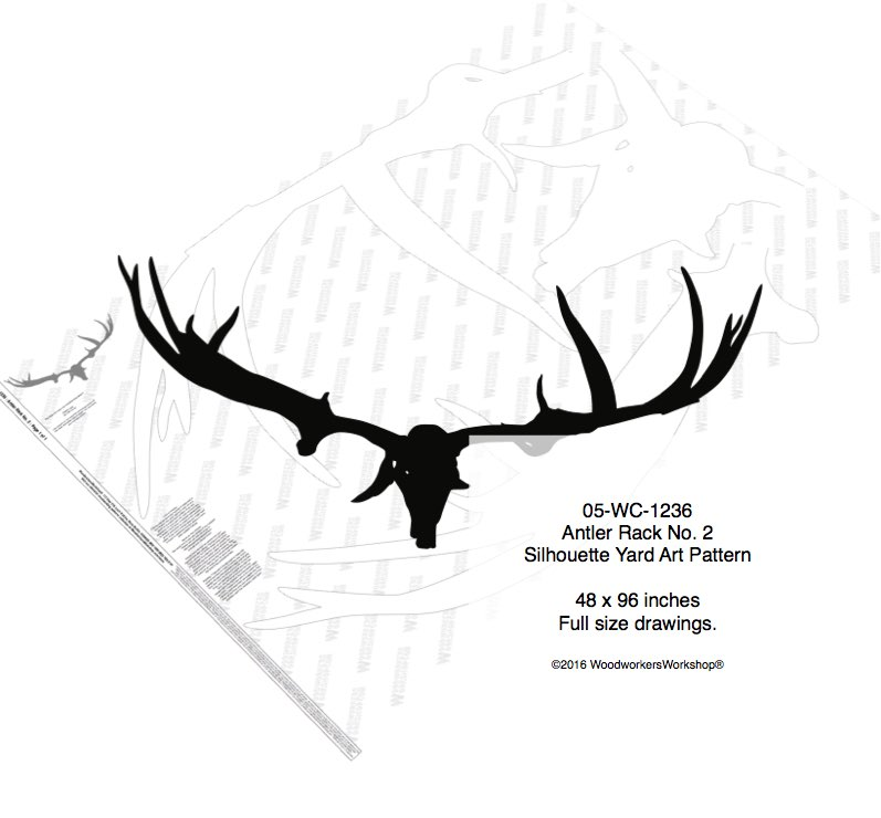 Antler Rack No.2 Silhouette Woodworking Pattern woodworking plan