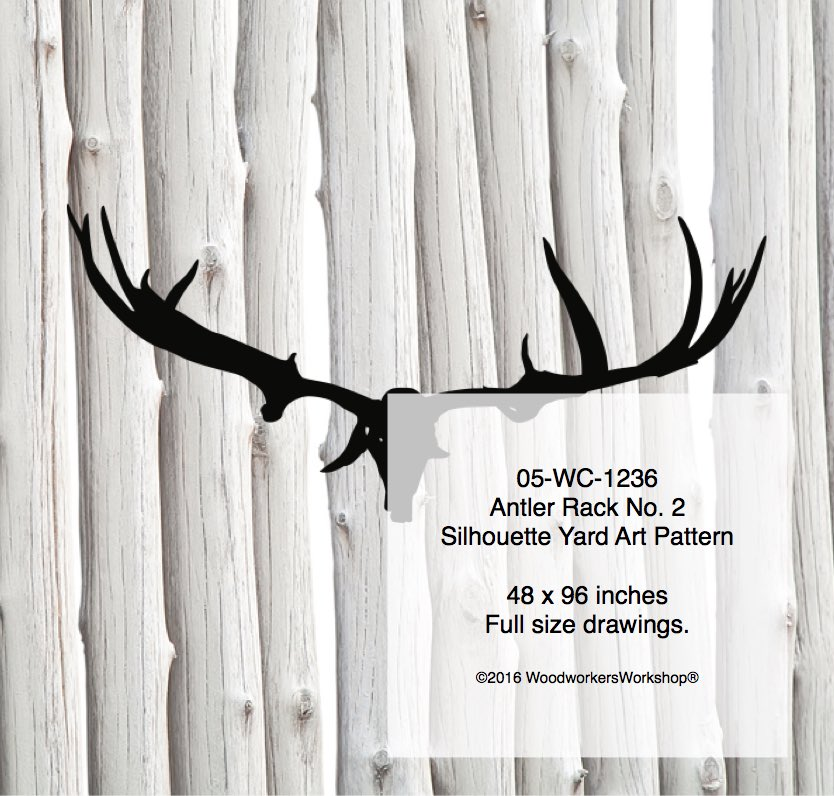 Antler Rack No.2 Silhouette Woodworking Pattern