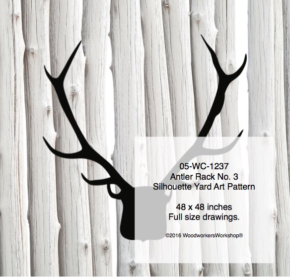 Antler Rack No.3 Silhouette Woodworking Pattern