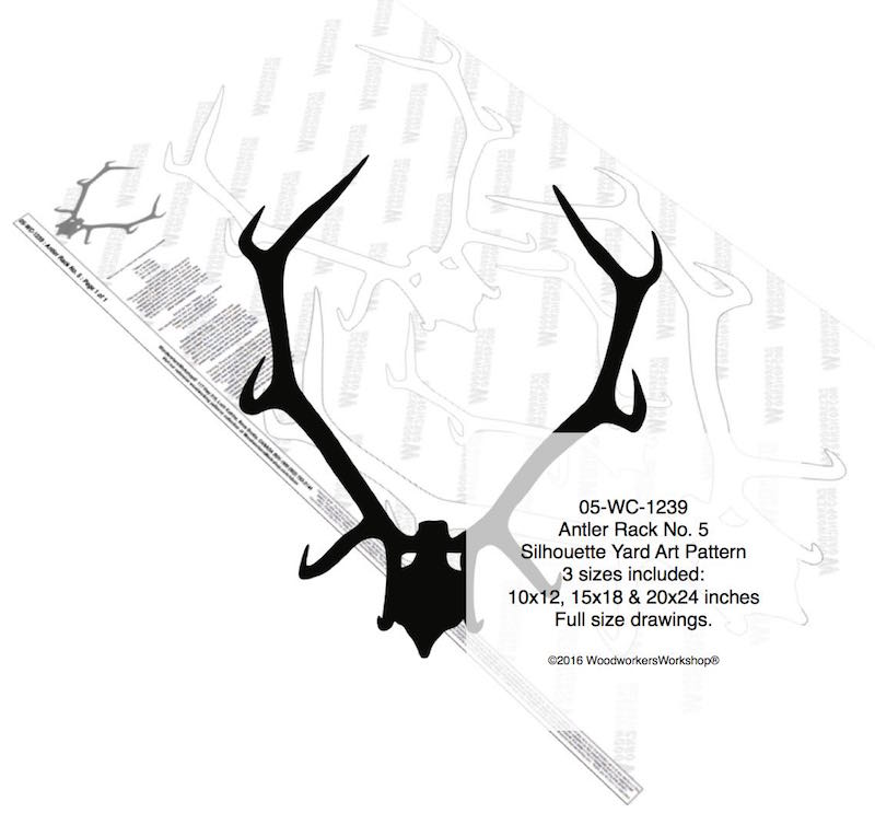 Antler Rack No.5 Silhouette Woodworking Pattern woodworking plan
