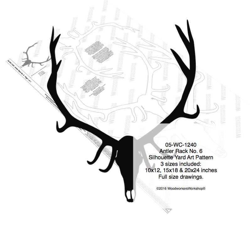 Antler Rack No.6 Yard Art Woodworking Pattern woodworking plan