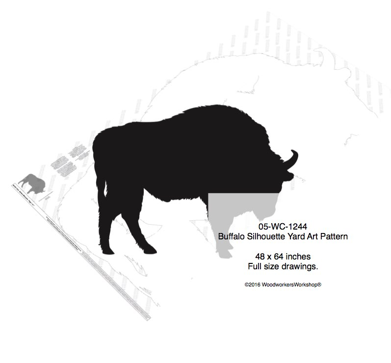 Buffalo Silhouette Yard Art Woodworking Pattern woodworking plan