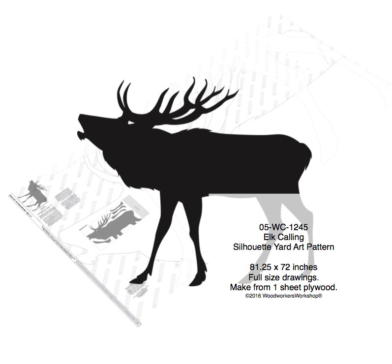 Elk Calling Silhouette Yard Art Woodworking Pattern woodworking plan