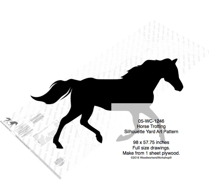 Horse Trotting Yard Art Woodworking Pattern woodworking plan
