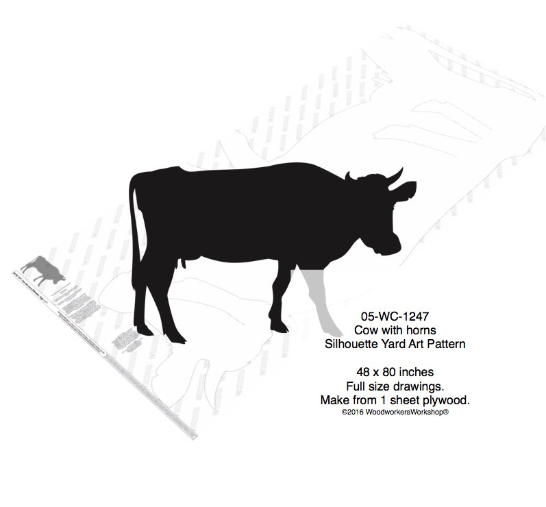 Cow with Horns Yard Art Woodworking Pattern