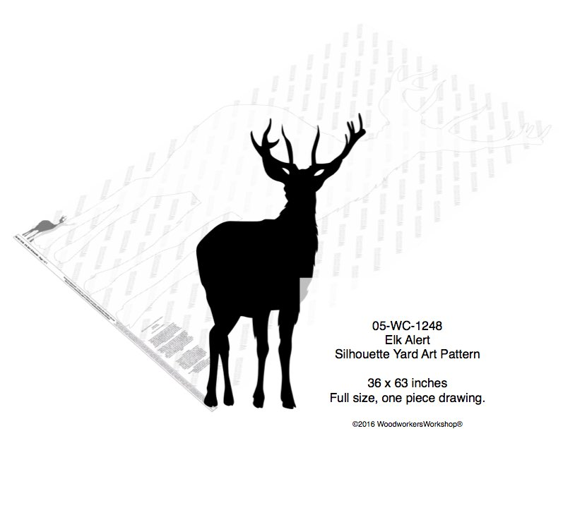 Elk alert Yard Art Full Size Woodworking Pattern woodworking plan