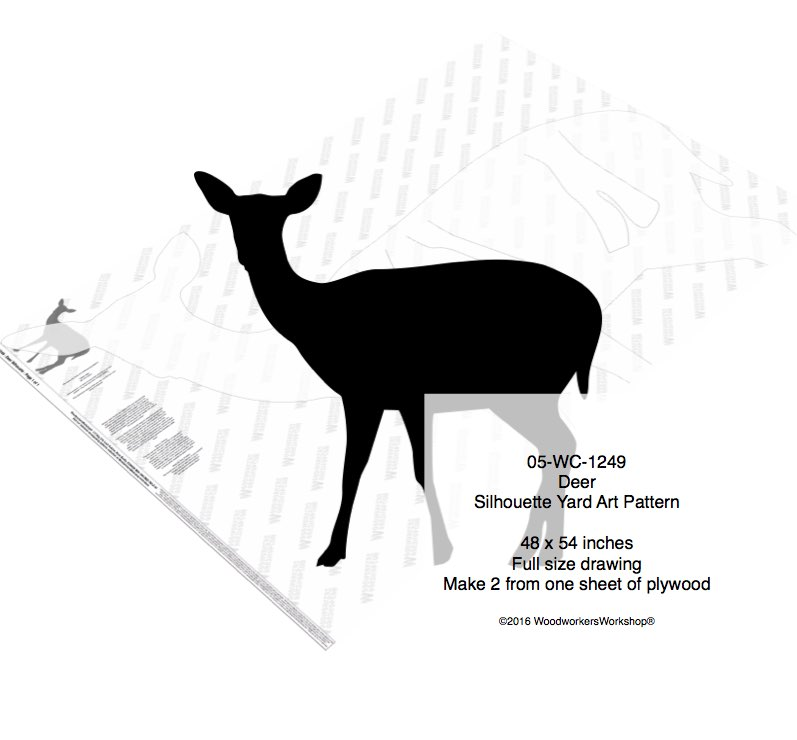 Deer Yard Art Full Size Woodworking Pattern woodworking plan