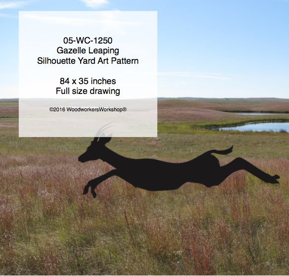 Gazelle Leaping Yard Art Woodworking Pattern