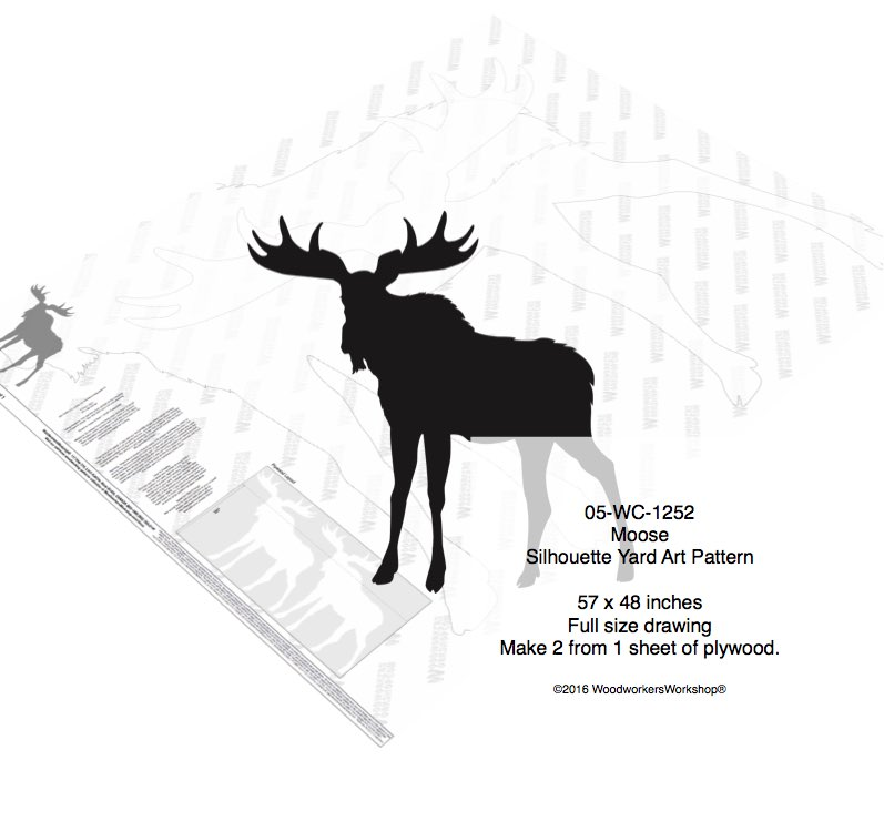Moose Silhouette Yard Art Woodworking Pattern woodworking plan