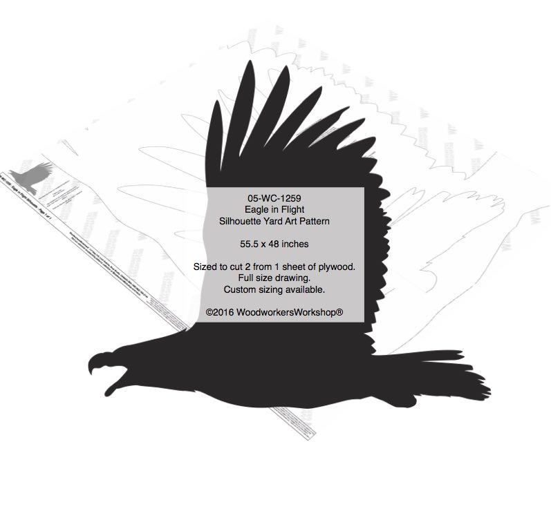 Eagle in Flight Silhouette Yard Art Woodworking Pattern woodworking plan