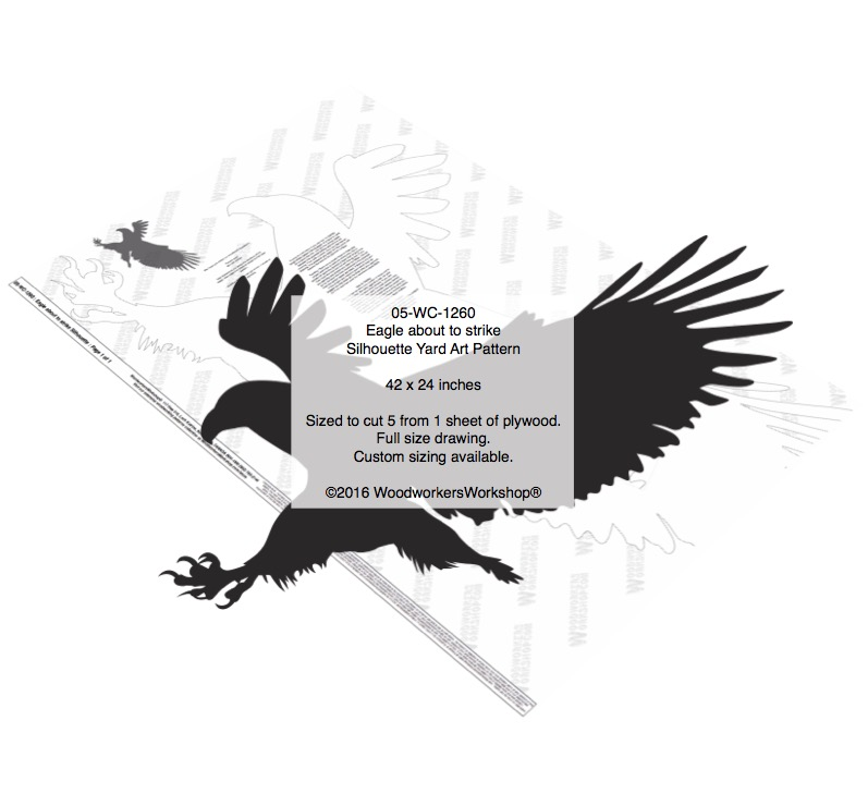 Eagle about to strike Silhouette Yard Art Woodworking Pattern