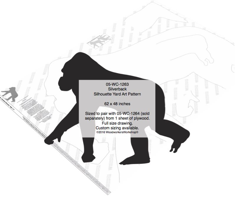 Silverback Silhouette Yard Art Woodworking Pattern woodworking plan
