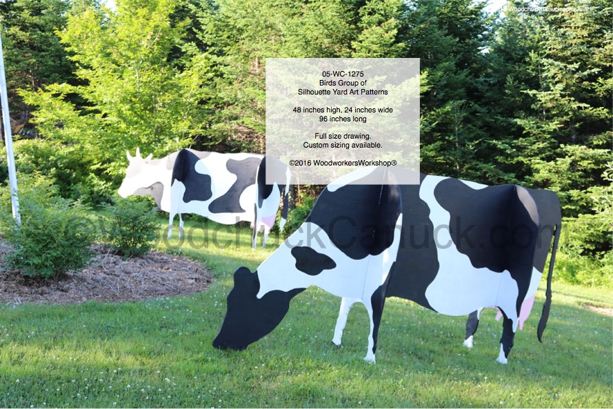 3D Cows Large Yard Art Woodworking Pattern