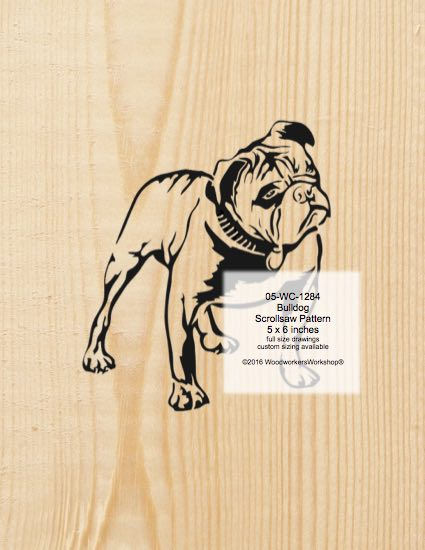 Bulldog Scrollsaw Pattern woodworking plan