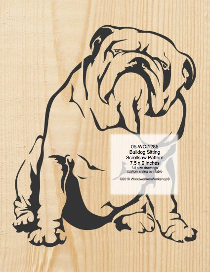 Bulldog Sitting Scrollsaw Pattern woodworking plan