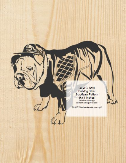 Bulldog Biker Scrollsaw Woodworking Pattern woodworking plan