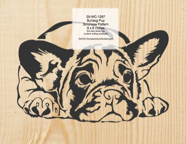Bulldog Pup Scrollsaw Woodworking Pattern woodworking plan