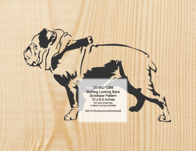 Bulldog On Leash Scrollsaw Woodworking Pattern woodworking plan