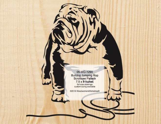 Bulldog Jumping Rope Scrollsaw Woodcraft Pattern woodworking plan