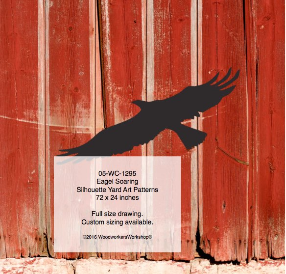 Eagle Soaring Yard Art Woodworking Pattern woodworking plan