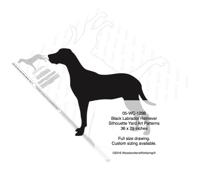 Black Labrador Retriever Silhouette Yard Art Woodworking Pattern woodworking plan