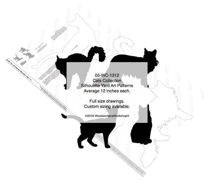 05-WC-1312 - Cat Collection Silhouettes Yard Art Woodworking Pattern