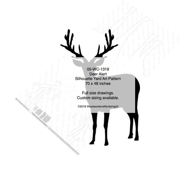 Deer Alert Yard Art Woodworking Pattern Woodworkersworkshop