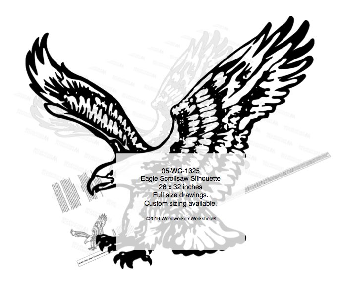 Eagle Scrollsaw Silhouette Yard Art Woodworking Pattern woodworking plan