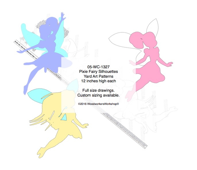 Pixie Fairy 3 Silhouette Woodworking Patterns woodworking plan