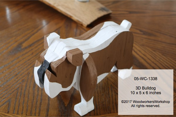05-WC-1338 - Barkley the 3D Bulldog Woodworking Pattern