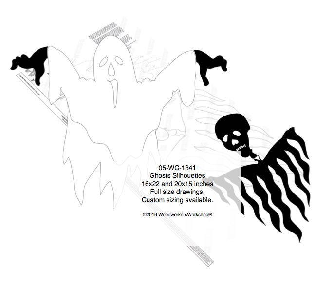 Ghosts Silhouette Yard Art Woodworking Pattern woodworking plan