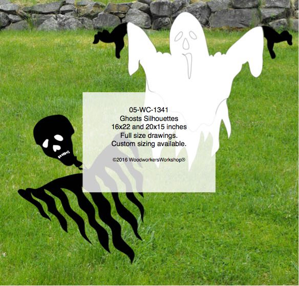 Ghosts Silhouette Yard Art Woodworking Pattern