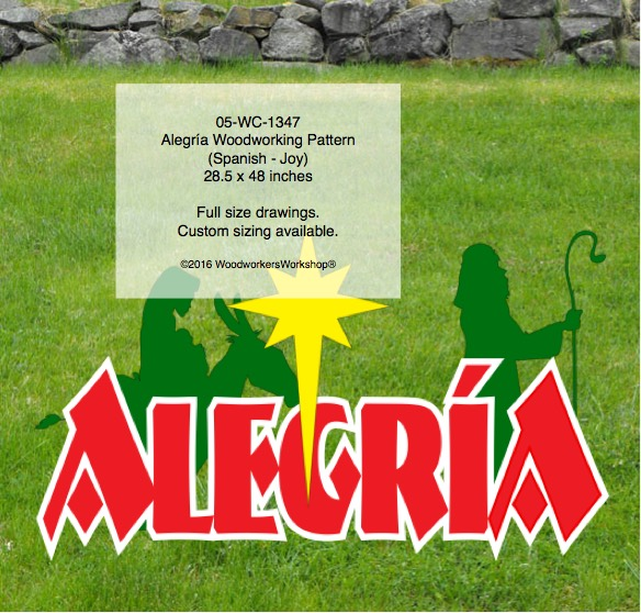 Alegría Yard Art Woodworking Pattern