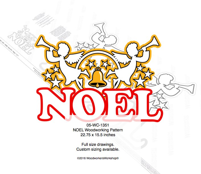NOEL with Trumpeting Angels Yard Art Woodworking Pattern