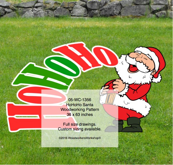 HoHoHo Santa Claus Yard Art Woodworking Pattern