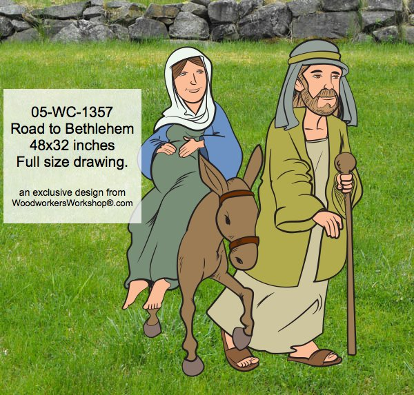Road to Bethlehem Yard Art Woodworking Pattern