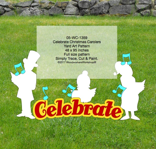 Celebrate with Christmas Carolers Yard Art Woodworking Pattern