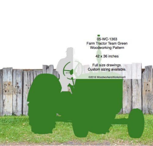 05-WC-1361 - Farm Tractor Team Blue Yard Art Woodworking Pattern