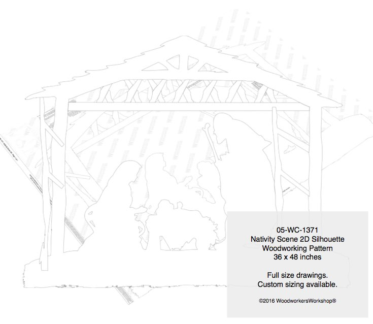 Christmas Nativity Scene 2D Yard Art Woodworking Pattern