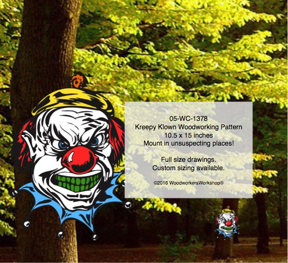 Kreepy Klown Yard Art Woodworking Pattern