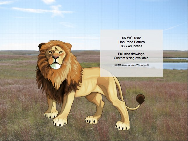 Lion Pride Yard Art Woodworking Pattern woodworking plan