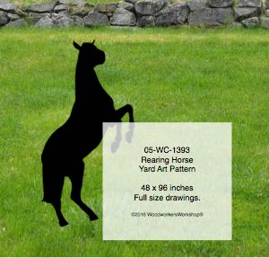 Rearing Horse Yard Art Woodworking Pattern 8ft tall